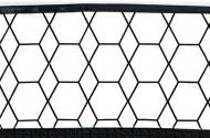 Briljant Wieglaken Grid Black/White 75 x 100 cm