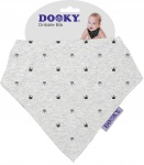 Dooky Dribble Bib Light Grey Crowns
