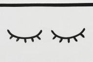 Meyco Ledikantlaken Sleepy Eyes Zwart  100 x 150 cm