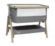 Tutti Bambini CoZee Bedside Crib Oak/Charcoal