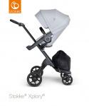 Stokke® Xplory® V6 Grey Melange Seat / Black Chassis - Black Leatherette Handle