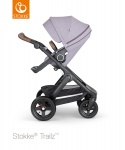 Stokke® Trailz™ Black Terrain Wheels Brushed Lilac with Brown Leatherette Handle