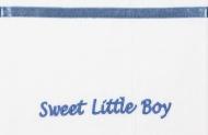 Briljant Wieglaken Sweet Little Boy Blauw  75 x 100 cm