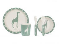 Jollein Dinerset Bamboe Safari Forest Green