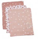 Briljant Washand Spots Grey Pink 3-Pack