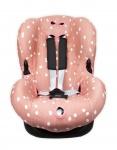 Briljant Autostoelhoes 1+ Spots Grey Pink
