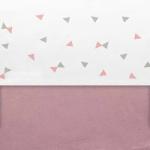 Little Lemonade Laken Triangle Grey/Pink 75 x 100 cm