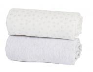 Hoeslakenset Cozee Bedside Crib Grey/Cloud 2 stuks