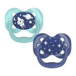 Dr. Brown's Fopspeen Blauw/Mint Fase 1 2-Pack