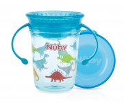 Nuby Tritan Wonder Cup 360° Blauw 240ml - 6mnd+