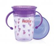 Nuby Tritan Wonder Cup 360° Paars 240ml - 6mnd+