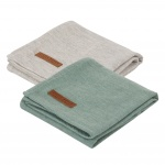 Little Dutch Swaddle 2Stuks Pure Mint/Grey  70x70