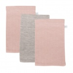 Little Dutch Washand Pure Pink/Grey/Pink 3-Pack