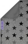 Dooky Deken Katoen Grey Stars Enkellaags 70 x 85 cm