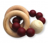Chewies & More Rattle Burgundy