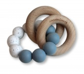 Chewies & More Basic Rattle Dusty Blue/Wit Gritt