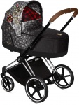 Cybex Priam Combi Matt Black/Black Rebellious/Multicolor