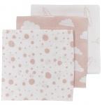 Meyco Hydrofiele Monddoekjes 3pack Print Roze