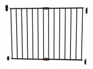 Noma Extending Metal Gate Black (62 cm - 102 cm)