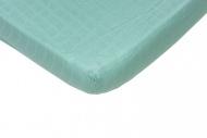 Hoeslaken Hydrofiel Mint  60 x 120 cm.