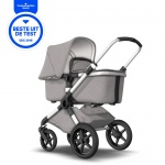 Bugaboo Fox Complete Set Mineral Collection Aluminium Frame / Light Grey Bekledingset