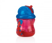 Nûby Flip-It Rietjesbeker Rood 12mnd+ 240ml