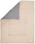 Koeka Boxkleed Wafel Amsterdam Steel Grey/Sand  75 x 95 cm