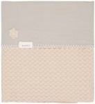 Koeka Ledikantdeken Wafel/Flanel Antwerp Sand/Misty Grey