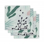 Jollein Hydrofiele Multidoek Small 70x70 Leaves 4pck