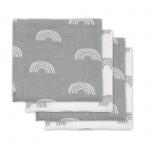 Jollein Hydrofiele Multidoek Small 70x70 Rainbow Grey 4pck