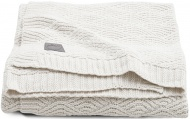 Jollein Wiegdeken River Knit Cream White  75 x 100 cm
