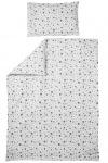 Meyco Ledikantovertrek Dots Grijs  100 x 135 cm