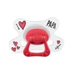 Difrax Fopspeen I Love Papa Natural 18 mnd+