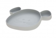 Lässig Bord Silicone Met Zuignap Little Chums Mouse Grey