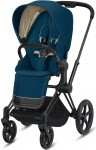 Cybex Priam Combi Matt Black/Black Mountain Blue/Turquoise