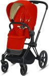 Cybex Priam Combi Matt Black/Black Autumn Gold/Burnt Red