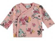 Babylook T-Shirt Overslag Flower