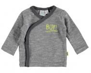 Babylook T-Shirt Overslag Grey Melange