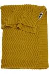 Meyco Ledikantdeken Waves Okergeel  100 x 150 cm