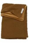 Meyco Wiegdeken Waves Velvet Camel  75 x 100 cm