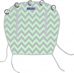 Dooky Reversible Mint / Grey Chevron