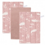 Little Dutch Washand Ocean Pink/Pure Pink/Ocean Pink 3-Pack