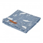 Little Dutch Swaddle Ocean Blue 120 x 120