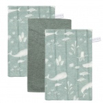 Little Dutch Washand 3 Stuks Ocean Mint