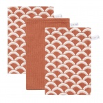 Little Dutch Washand Sunrise Rust/Pure Rust/Sunrise Rust 3-Pack