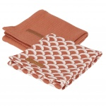 Little Dutch Swaddle 2 Stuks Sunrise Rust / Pure Rust  70x70