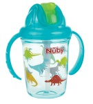 Nuby Tritan Flip-It Antilek Beker Aqua 240ml 12mnd+