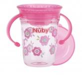 Nuby Tritan 360° Wonder Cup Roze 240ml 6mnd+