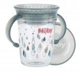 Nuby Tritan 360° Wonder Cup Grijs 240ml 6mnd+