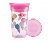 Nuby Tritan 360° Wonder Cup Roze 300ml 6mnd+